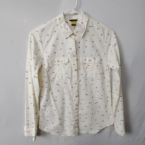 Eddie bauer mountain design white XS button down